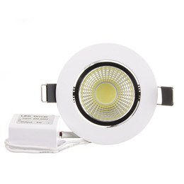aluminum recessed ceiling lights Australia - AC200V Dimmable LED Downlight 6W COB LED Recessed Ceiling Lamp Fixture Spot LED Down Light Warm White Cool White