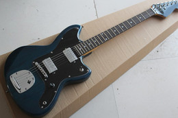 Black chrome guitar hardware online shopping - Factory Transparent Blue Electric Guitar with Black Pickguard Chrome Hardware Rosewood Fretboard Can be customized