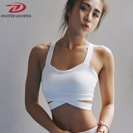 $enCountryForm.capitalKeyWord NZ - Sexy Shake proof Yoga Bra Hollow Out Women Push up Sports Bra Workout Gym Running Underwear Fitness Vest Crop Top