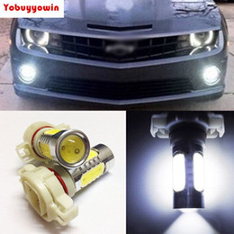 Fog lamp projector online shopping - 2Pcs Amber Yellow White H16 W COB LED Projector Bulbs For Car Auto Fog Lamp DRL Daytime Lights