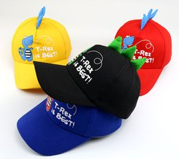 little beanie Australia - Baby boy girl hat cartoon Little dinosaur baseball caps Spring and summer new cotton children's hat Korean cute Style sun hat