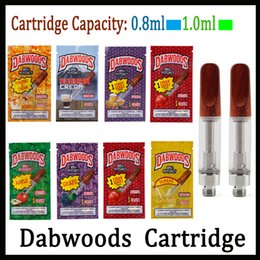 Vs tanks online shopping - DABWOODS DABWOOD Carts ml ml TH205 Ceramic Coil Wood Drip Tip Thick Oil Cartridge Tank Flavors Vs EXOTIC Cartridges