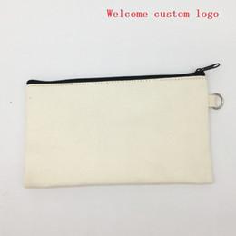 $enCountryForm.capitalKeyWord Australia - 19.5x11cm canvas zipper Pencil cases pen pouches cotton cosmetic Bags makeup bags Mobile phone clutch bag custom logo LX1368