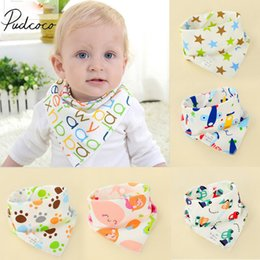 $enCountryForm.capitalKeyWord Australia - 2019 Brand New 1pcs Infant Kids Baby Unisex Feeding Saliva Towel Dribble Triangle Bandana Bibs Burp Cloths Baby Gifts