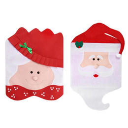 santa claus chair covers Australia - Christmas Chair Cover Supply Table Decorative Gifts Santa Claus Mrs. Claus