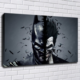 Art Canvas Prints Australia - Batman and Joker Canvas Painting Print Pictures for Living Room Home Decor Abstract Wall Art Oil Painting Poster