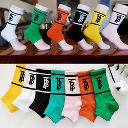 $enCountryForm.capitalKeyWord Australia - Candy Color Designer Letter Slipper Socks Women Fashion Cotton Sandal Socks for Gift Party Epacket Shipping