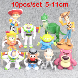 $enCountryForm.capitalKeyWord Canada - 10pcs  set Story 4 Lightyear Woody Jessie Lotso Bullseye Horse Forky Aliens Woody Figure Toys in stock