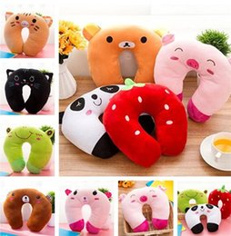 Cute Travel Neck Pillows Australia - Hot Korean version of the cartoon cute u-shaped pillow high quality multi-color soft cervical pillow nap travel pillows T7I5004