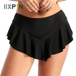 Discount skate clothes women - IIXPIN Women Girls Figure Skating Skirt Ice Skating Skirt solid Color Adult Performance Costume Dance Short Dance Clothi