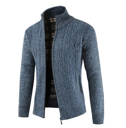 $enCountryForm.capitalKeyWord Australia - Mens Jackets 2019 Winter New Casual Knit Jacket Fashion Solid Color Coat British Style Sweater Gentle Clothing 5 Color M-3XL
