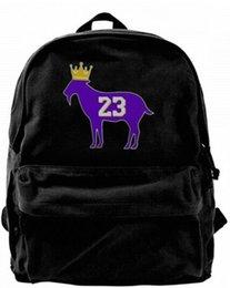 $enCountryForm.capitalKeyWord UK - Goat James G.O.A.T. King Fashion Canvas designer backpack For Men & Women Teens College Travel Daypack Leisure bag Black