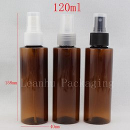 Oz Plastics Australia - 120ml X 50 brown cosmetic spray bottles for cosmetics packaging, 120cc empty plastic PET container with mist sprayer pump 4 oz