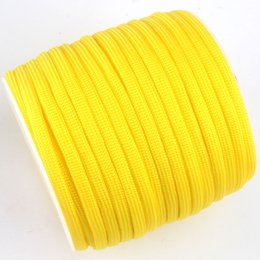 rope spools UK - 252 Colors 100FT Spools Paracord 550 Paracord Rope Type III 7 Stand Cord Outdoor Camping Survival Wind Rope Wholesale