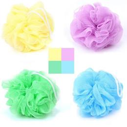 Wholesale Multi Colors Bath Shower Sponge Pouf Loofahs Nylon Mesh Brush Shower Ball, Mesh Bath and Shower Sponge H226