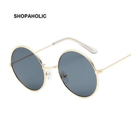 cheap designer sunglasses for women Australia - Round Small Sunglasses Women Brand Designer Vintage Metal Cheap Sun Glasses for Female High Quality Glasses Retro Circle