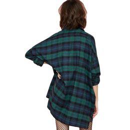 $enCountryForm.capitalKeyWord UK - Size Plus 3xl 4xl 5xl Autumn Tops Plaid Shirts Blouses Women Tartan Shirt Long Sleeve Baggy Check Blouse Oversized Female Tunics