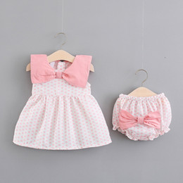 baby girl tutu dress love UK - Summer Baby Girls Sleeveless Loving Heart Doll Collar Princess Party Pleated Kids Tutu Dress + Bow Pp Shorts Girls 2pcs Clothes J190506