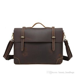 leather tennis bags NZ - Briefcase Men S Bag Cowhide Leather Backpack More Pocket Top Quality Purse Designer Handbags Portable Genuine Leather Travel Bags