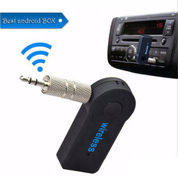 mic for car Australia - Free Shipping Universal 3.5mm Bluetooth Car Kit A2DP Wireless AUX Audio Music Receiver Adapter Handsfree with Mic For Phone MP3 Retail Box