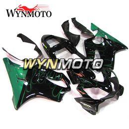 Motor Bicycles Australia - Black Green Flame Motorbike Panels for Honda CBR600F4i 2001 2002 2003 01 02 03 ABS Plastic Injection Fairings Motor Bicycle Body Kits