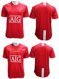 39b8920401c 07 08 Retro UCL Final Home Manutd Short Sleeves Jersey Ronaldo 07 08 Shirt