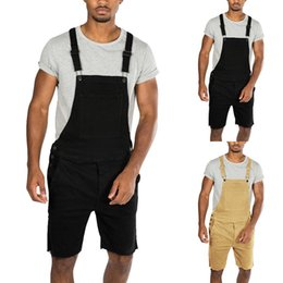 Overall Jumpsuits Australia - Laamei 2019 New Mens Jeans Casual Retro Denim Bib Overall Pants Summer Autumn Solid Jeans Jumpsuit For Male Rompers 3XL