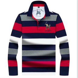 horse brand polo Australia - Mens Designer Polos With Horses Fashion Brand Polo Shirts for Men Long Sleeved Tees Shirts Spring Pullover Men Clothing Free Shipping M-3XL