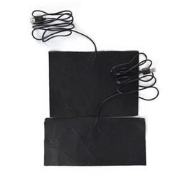 Venta al por mayor de 3 Tamaño USB Chaqueta Térmica Abrigo Chaleco Accesorios Fibra de Carbono Almohadillas Calentadas Cuello Trasero de Calentamiento Rápido 10X22cm 15X20cm 15X30cm