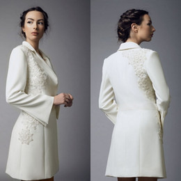Mother Bride Wedding Dresses Jacket Australia - 2019 Chic Mother Of The Bride Dresses Beaded Long Sleeve Long Jacket Custom Made Wedding Guest Dress Plus Size Mother Gowns