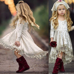 Kids girls long evening gowns online shopping - Autumn Spring Kid Girls Princess Velvet Tassels Dress Children Clothing Evening Dress Kids Long Sleeve Party Dresses Costume Kid Clothing