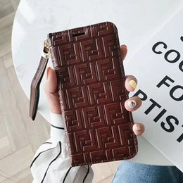 $enCountryForm.capitalKeyWord Australia - Trend Solid Genuine Leather Folio Cover for Iphone X Case Elegant Pattern Case for Iphone X XR XS MAX Case Full Protection Cover with Holder