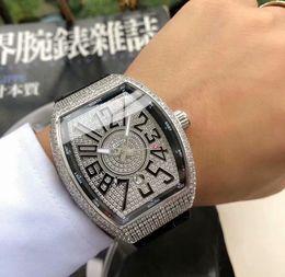 55mm Watches Australia - Free Shipping top luxury watch fashion diamond mechanical men's watch fashion diamond surface rubber watchband size 39*55mm