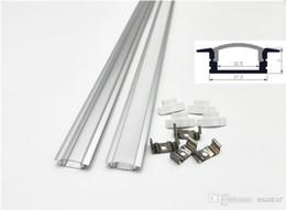 Wholesale 1m led aluminium profile for led bar light, led strip aluminum channel, waterproof aluminum housing milky transparent cover CRESTECH