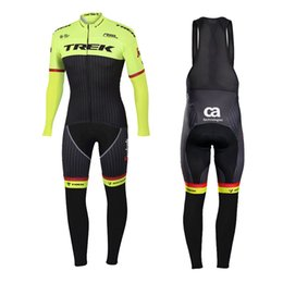 China UCI 2018 Pro team men's Winter Thermal Fleece Cycling jersey 9D gel pad bib pants kit Ropa Ciclismo Invierno bicycle bike clothing cheap bike jerseys kits suppliers