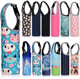 cases bottled water 2020 - Neoprene Water Protection Cover Bottle Case Insulated Holder Carrier 19 Styles Carrying Pouch Bag Top Quality Water Bott