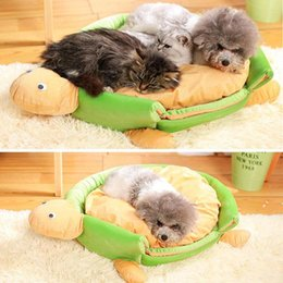 $enCountryForm.capitalKeyWord Australia - Dog Bed Turtle Shape Portable Soft Kennel Sofa Pets Collapsible Beds Removable Cushion House For Small Medium Pet Cats Puppy