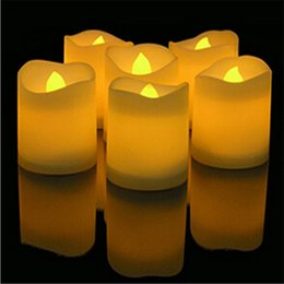 $enCountryForm.capitalKeyWord Australia - Wavy Edge Electronic Candles Flameless LED Lights Candles for Wedding Party Home Decoration for Home Party Supplies Multi Color