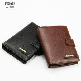 Russia Coin Australia - Wholesale- 2 in 1 Men Piroyce 100% Genuine Leather Wallet Russia driver license case passport cover Money Pocket Large Capacity Coins Purse