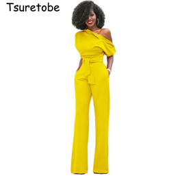 $enCountryForm.capitalKeyWord Australia - Tsuretobe New Fashion Off The Shoulder Elegant Jumpsuits Women Plus Size Rompers Womens Jumpsuits Short Sleeve Female Overalls Y19060501