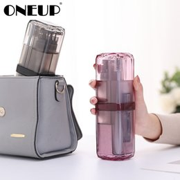 bathroom wash sets Australia - ONEUP Travel Wash Cup Portable Travel Toiletries Toothpaste Toothbrush Partition Storage box Outdoor Bathroom Accessories Sets SH190919