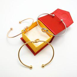 $enCountryForm.capitalKeyWord Australia - Free DHL Fashion Bridesmaid Jewelry 4 Colors Simple Charm Bracelet Open Cuff Bangle Forever Love Knot Infinity Bracelets for Women H997F
