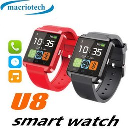 samsung s4 smart watch UK - HOT U8 Bluetooth Smart Watch Watch Wrist Smartwatch for iPhone 4 5 5S 6 6S 6 plus Samsung S4 S5 Note 2 Note 3 HTC Android Phone Smartphones