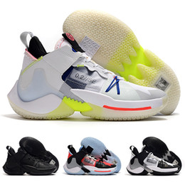 elite basketball Australia - 2019 New Why Not Zer0.2 Russell Westbrook 2 Elite Luminous Triple Black White Basketball Shoes High quality Mens Sports Sneakers