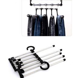 $enCountryForm.capitalKeyWord Australia - Multifunction Magic Clothes Hanger Stainless Steel Tube Pants Rack Retractable Clothes Trouser Holder Storage Hanger Home Organizer SN2702