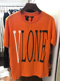 Orange Cotton Australia - Vlone Friends Orange T-shirt men women t shirt harajuku tshirt punk hip hop streetwear brand summer cotton clothing printing tees tops 2019
