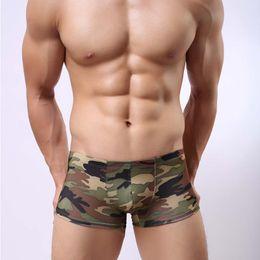 Gay Clothes Australia - 2019 Men Camouflage Underwear Plus Size Men's Boxer Shorts Fashion Army Green Camouflage Gay Lingerie Boxershort Clothing