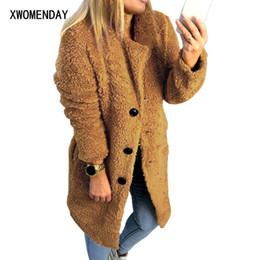 199a188dbd Discount veste femme fashion - Warm Winter Faux Fur Teddy Jacket Women  Fashion Streetwear Elegant Long