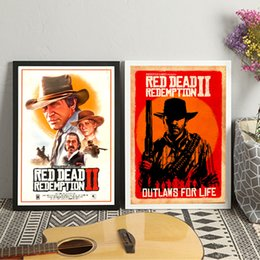 Video game art online shopping - Red Dead Redemption Video Game Wall Art Canvas Painting Poster For Home Decor Posters And Prints Unframed Decorative Pictures