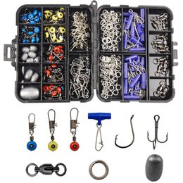 $enCountryForm.capitalKeyWord Australia - fishing 172pcs  Fishing Accessories Tackle Box Set Including Circle Hooks Treble Hooks Egg Sinker Weights Swivels Sinker Slides Rings